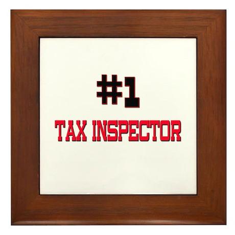 Number 1 TAX INSPECTOR Framed Tile