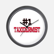 Number 1 TAXIDERMIST Wall Clock