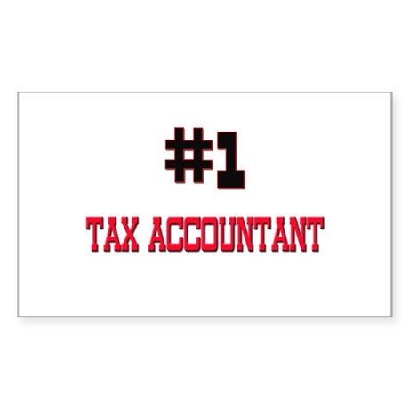 Number 1 TAX ACCOUNTANT Rectangle Sticker