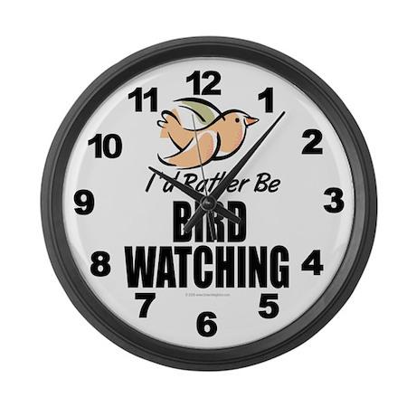 Bird Watching Large Wall Clock