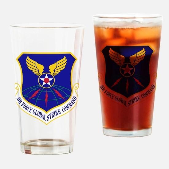 USAF Global Strike Command Badge Drinking Glass