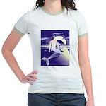 Mermaid Art Jr. Ringer T-Shirt