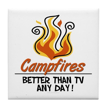 Camping Tile Coaster