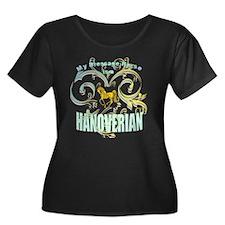 Dressage Hanoverian Women's Plus Size T-Shirt