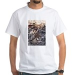 Mermaid Art White T-Shirt