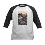 Mermaid Art Kids Baseball Jersey
