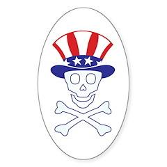 Li'l Uncle Sammy Skully Oval Sticker (10 pk)