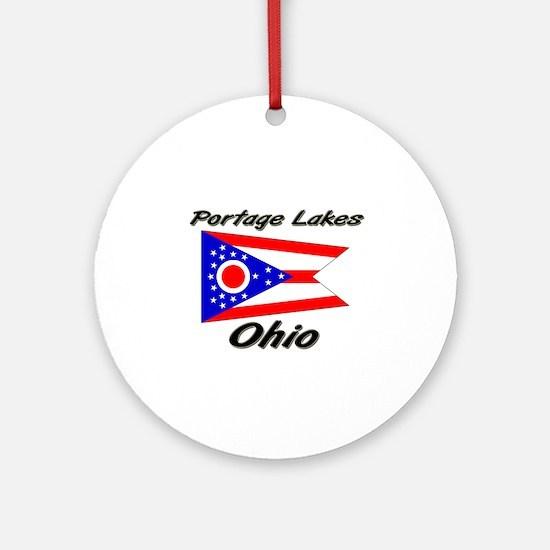 Portage Lakes Ohio Ornament (Round)