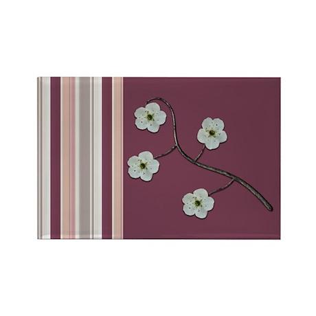 Plum Stripe Rectangle Magnet
