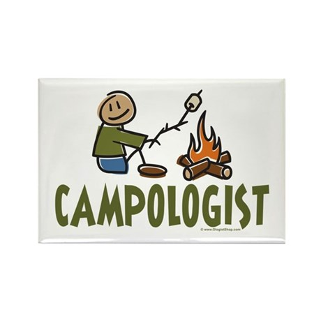 Camping Rectangle Magnet (100 pack)