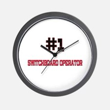 Number 1 SWITCHBOARD OPERATOR Wall Clock