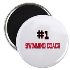 Number 1 SWIMMING COACH Magnet