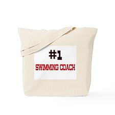 Number 1 SWIMMING COACH Tote Bag