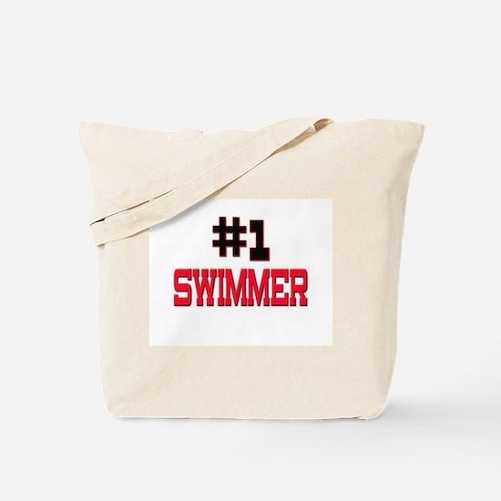 Number 1 SWIMMER Tote Bag