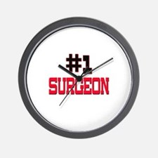 Number 1 SURGEON Wall Clock
