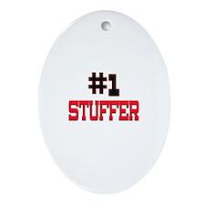 Number 1 STUFFER Oval Ornament
