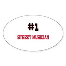 Number 1 STREET MUSICIAN Oval Decal