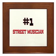 Number 1 STREET MUSICIAN Framed Tile