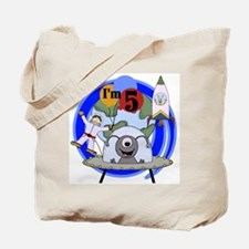 Outer Space 5th Birthday Tote Bag