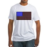 Dog Tracks Flag Fitted T-Shirt