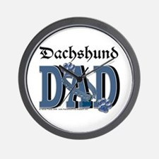 Dachshund DAD Wall Clock