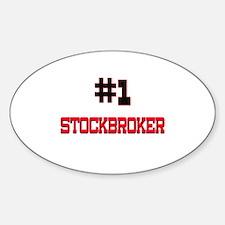 Number 1 STOCKBROKER Oval Decal