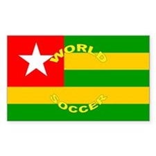 Togo World Cup 2006 Soccer Rectangle Decal