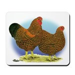 GL Wyandotte Rooster and Hen Mousepad