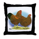 GL Wyandotte Rooster and Hen Throw Pillow