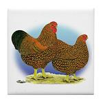 GL Wyandotte Rooster and Hen Tile Coaster