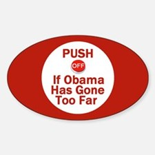 Push Off Oval Decal