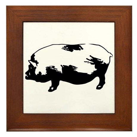 Pig Framed Tile