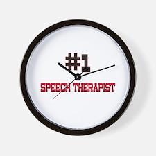 Number 1 SPEECH THERAPIST Wall Clock
