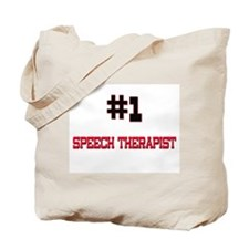 Number 1 SPEECH THERAPIST Tote Bag