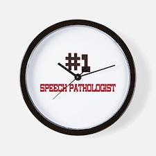 Number 1 SPEECH PATHOLOGIST Wall Clock