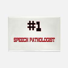 Number 1 SPEECH PATHOLOGIST Rectangle Magnet