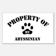 Property of My Abyssinian Rectangle Decal