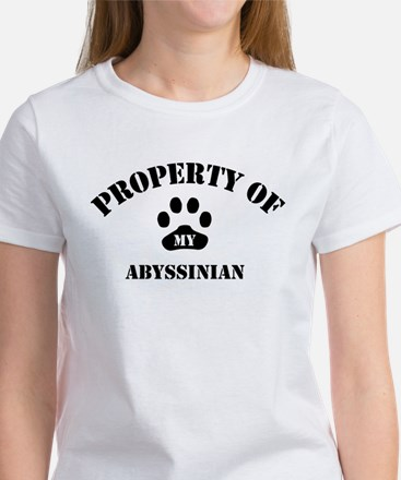 Property of My Abyssinian Women's T-Shirt
