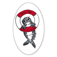 Save the Seals Oval Decal