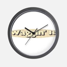 Waggin' It Wall Clock