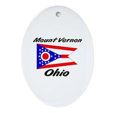 Mount Vernon Ohio Oval Ornament