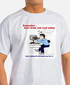Don't Drink and Read Ash Grey T-Shirt