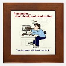 Don't Drink and Read Framed Tile