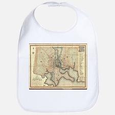Vintage Map of Baltimore Maryland (1822) Baby Bib