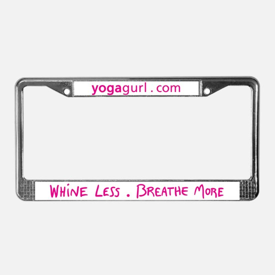 Yogagurl License Plate Frame