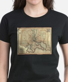 Vintage Map of Baltimore Maryland (1822) T-Shirt