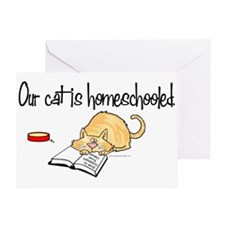 Our Cat is Homeschooled Greeting Card