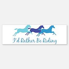 I'd Rather Be Riding Bumper Sticker (10 pk)