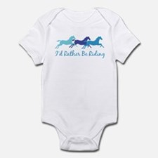 I'd Rather Be Riding Infant Bodysuit