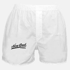 New Dad Personalizable Boxer Shorts